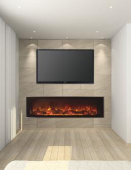 Modern Flame Landscape 60``