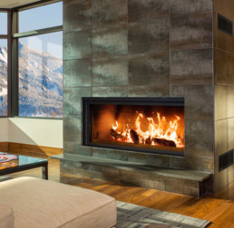 Renaissance wood fireplace