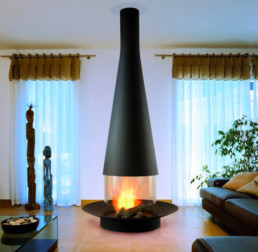 Focus wood fireplace