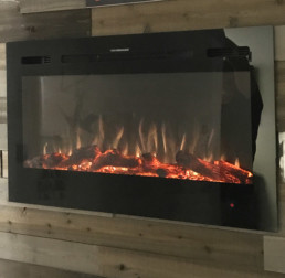 Toso electric fireplace black 36